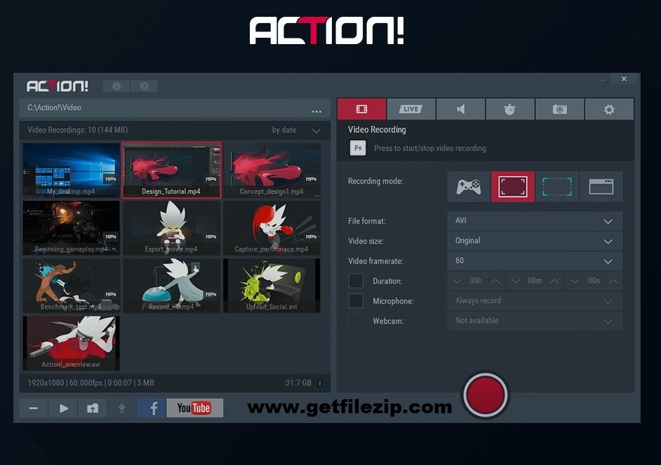 Download Mirillis Action! 4.1 full version program