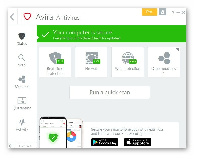 Avira Antivirus Pro  v15.0 Free Download