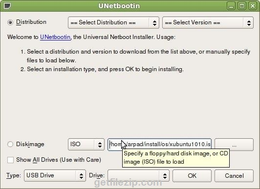 Download the latest version of UNetbootin