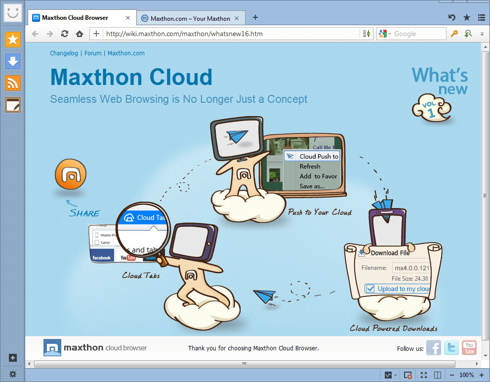 Maxthon Cloud Browser Free Download