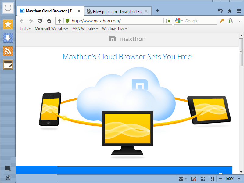 Maxthon Cloud Browser Free Download Offline Installer
