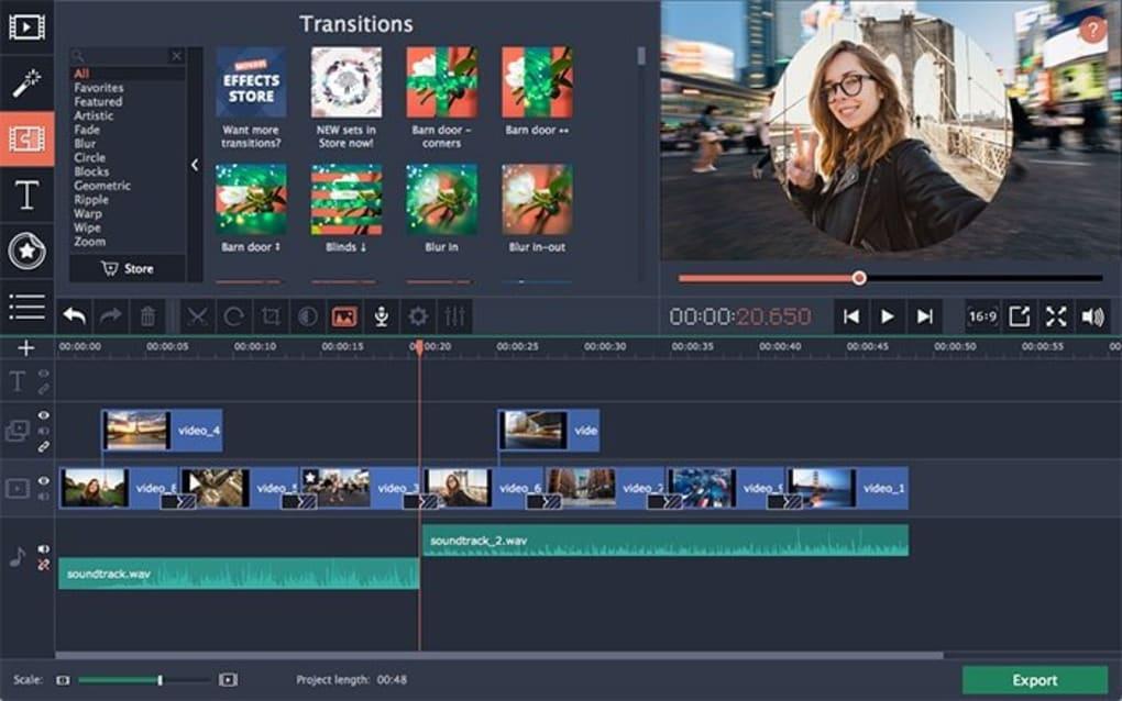 Movavi Video Editor Plus 20.0 Free Download