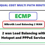 dual wan load balancing Mikrotik with PPPOE & Hotspot services
